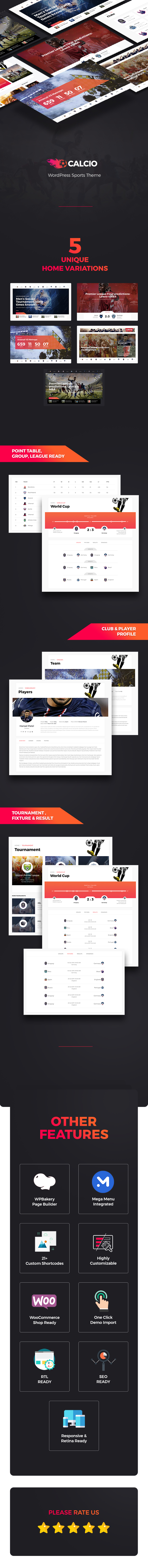 Calcio – Football & Soccer Management WordPress Theme (Nonprofit)