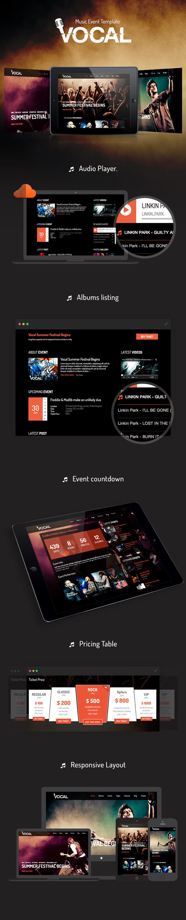 Vocal - Responsive Events & Music Template